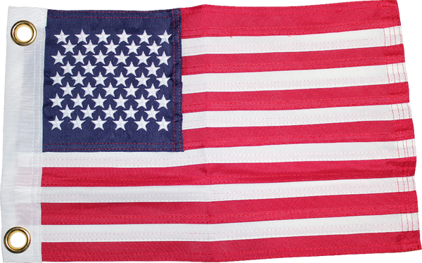 USA 12x18 inches Boat Flags Dura-Lite ™ 600D 2 Ply Boat Flag Embroidered