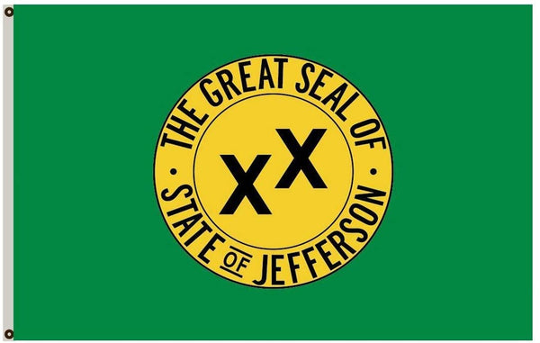"State Of Jefferson 12""X18"" Flag W/ Grommets Rough Tex® 100D"