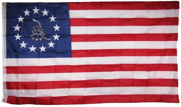 Betsy Ross Gadsden 3'X5' Flag ROUGH TEX® 100D