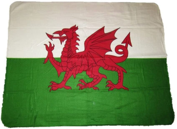 Wales Flag Deluxe Polar Fleece Blanket