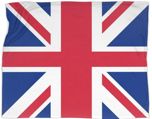 UNITED KINGDOM Flag Deluxe Polar Fleece Blanket
