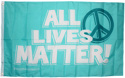 All Lives Matter Peace Sign 3'X5' Flag Rough Tex® 100D