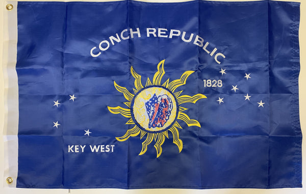Key West Conch Republic 2'X3' Embroidered Double Sided Flag Rough Tex® 300D