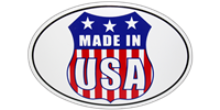 Made In USA Bumper Sticker - Oval