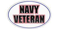 Navy Veteran Bumper Sticker - Oval