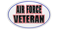 Air Force Veteran Bumper Sticker - Oval