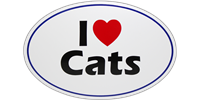 "I ""Heart"" Cats Bumper Sticker"