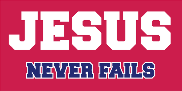 Jesus Never Fails  - Bumper Sticker