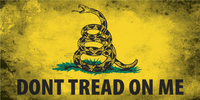 Don't Tread On Me Bumper Sticker- Grunge/Stained Version