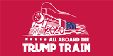 *TEMPORARILY OUT OF STOCK* All Aboard The Trump Train Red  - Bumper Sticker