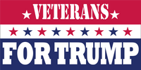 Veterans For Trump Red White And Blue -  Bumper Sticker