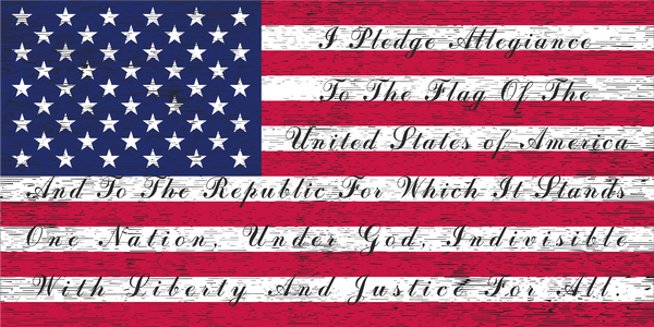 USA Pledge Allegiance  - Bumper Sticker