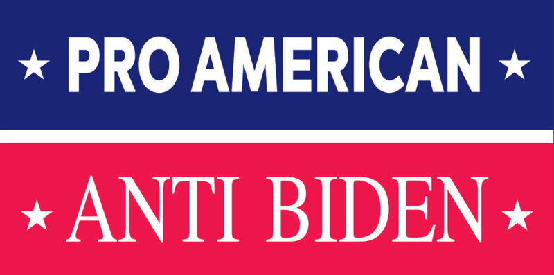 Pro American Anti Biden Bumper Sticker