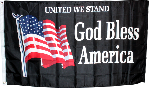 USA United We Stand God Bless America 3'X5' Flag Rough Tex® 75D