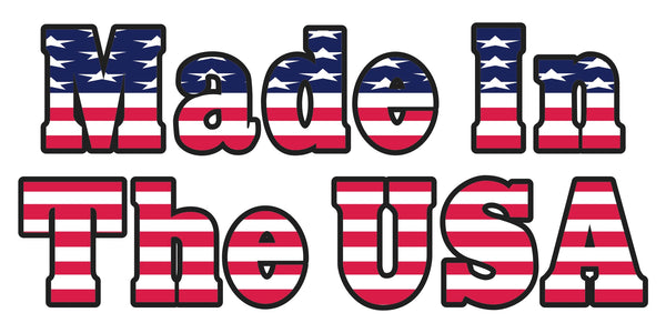 Made In The USA American Flag Bumper Sticker