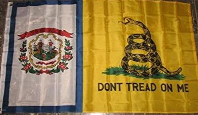 West Virginia Gadsden Don't Tread On Me Flag Rough Tex ® 3'x5' 100D