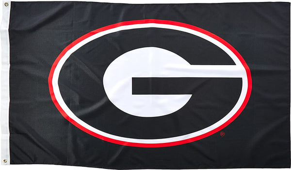University Of Georgia UGA Black 3'X5' Flag Rough Tex® 300D