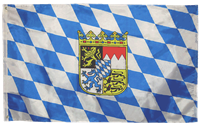 Bavaria with Crest (German State) 5'x8' Rough Tex 100D Flag