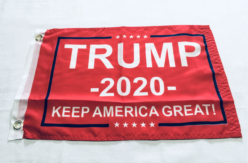 Trump Keep America First Red Double Sided Flag - 12''X18''