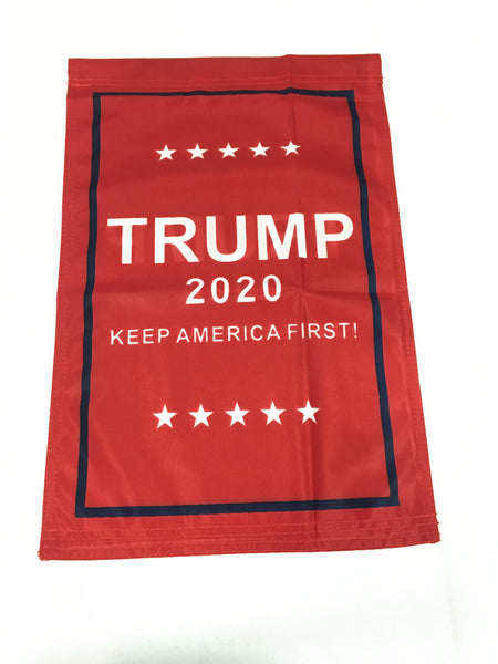 *TEMPORARILY OUT OF STOCK* Trump 2020 Keep America First KAF - Single Sided Garden Flag