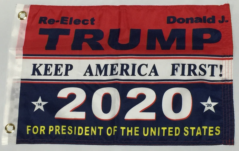 Re-Elect Donald J. Trump 2020 - 12''X18'' Single Sided Flag