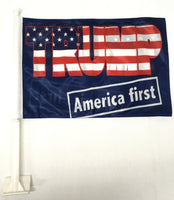 *TEMPORARILY OUT OF STOCK* Trump America First  - 11''X15.5'' Car Flag