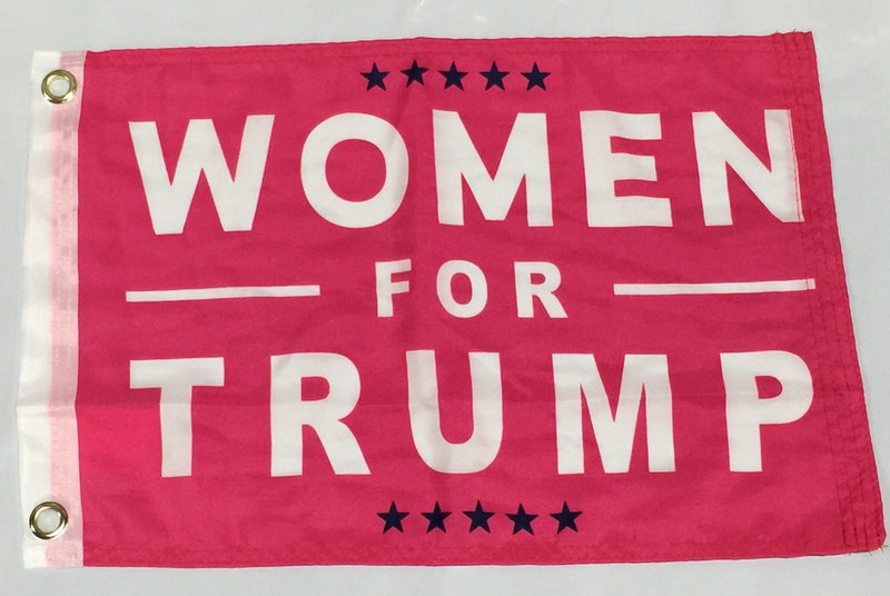 Women For Trump - 12''X18'' Single Sided Flag