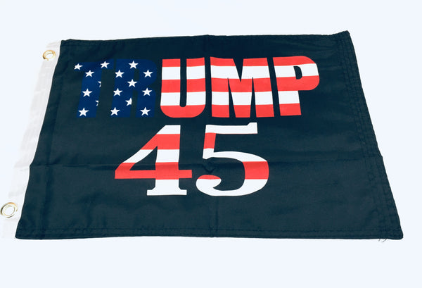 Trump 45 Double Sided Flag- 12''x18'' Rough Tex®