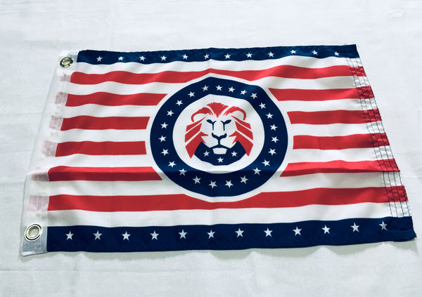 Trump Republican Lion USA Striped  - 12''X18'' Single Sided Flag