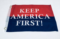 Keep America First KAF Double Sided Flag- 12''X18''  Rough Tex®