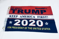 Re-Elect Donald J. Trump Keep America First KAF 2020 For President Of The United States Double Sided Flag- 12''x18'' Rough Tex®