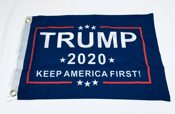 Trump 2020 Keep America First KAF Blue Flag- 12''x18'' Rough Tex®