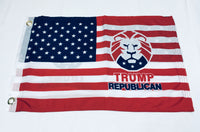 Trump America Lion Double Sided Flag- 12''X18'' Rough Tex®