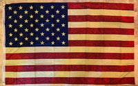 48 Star Tea Stained Vintage Flag Rough Tex ® 100D 3x5