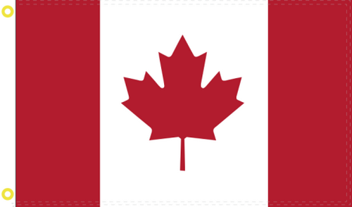 Canada 3'X5' Flag Rough Tex® 68D Nylon
