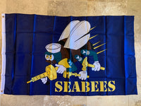 Sea Bees Flag 2'X3'