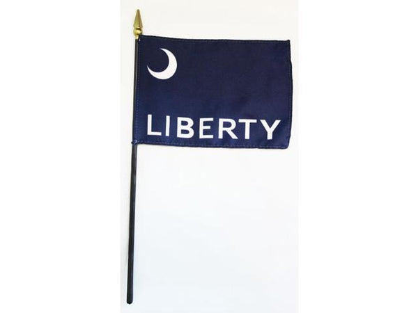 Fort Moultrie Liberty Stick Flag In Poly 4''X6''