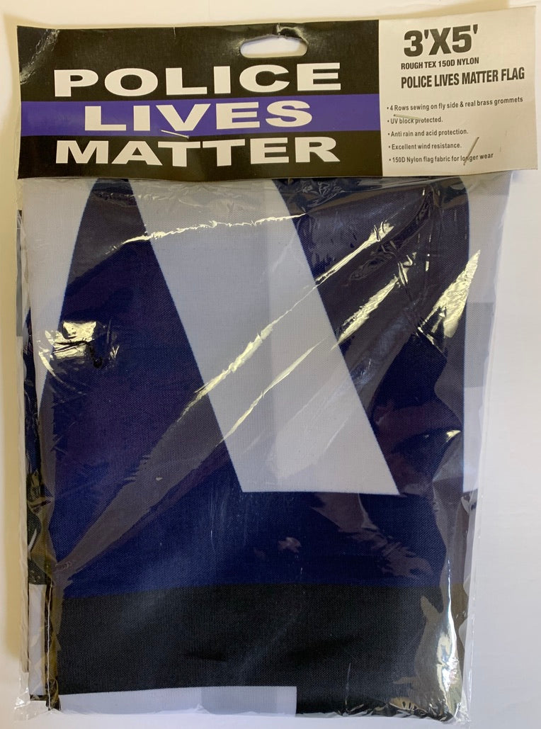 Police Lives Matter 3'X5' Rough Tex® 150D Nylon Thin Blue Line