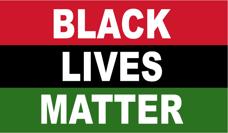 Black Lives Matter (Tri Color) 2'x3' Flag ROUGH TEX® 68D