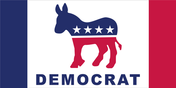 Democrat Party Flag 2020 Official Bumper Sticker Made In USA