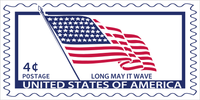Long May It Wave USA American Flag Postage Stamp Official Bumper Sticker Made In USA