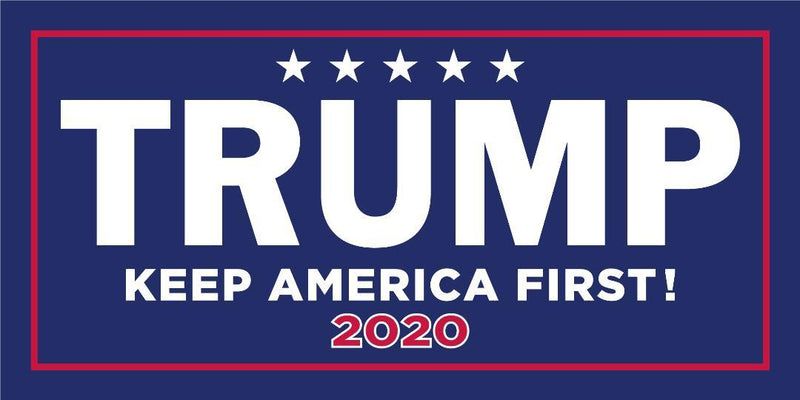 TRUMP KEEP AMERICA FIRST 2020 TRUMP BLUE & RED OFFICIAL BUMPER STICKERS PACK OF 50 WHOLESALE