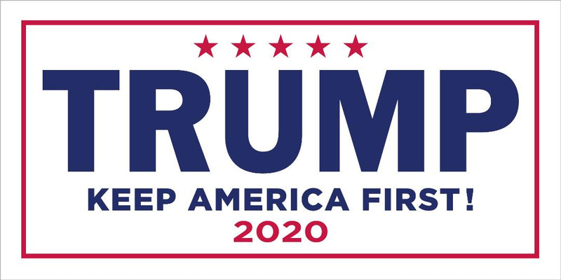 Trump Keep America First! 2020 Campaign Official Bumper Sticker