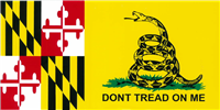 Gadsden Bumper Sticker - Maryland
