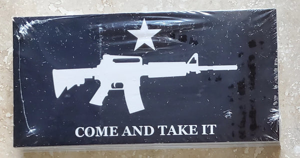 COME and TAKE IT m4 black tactical Bumper Sticker