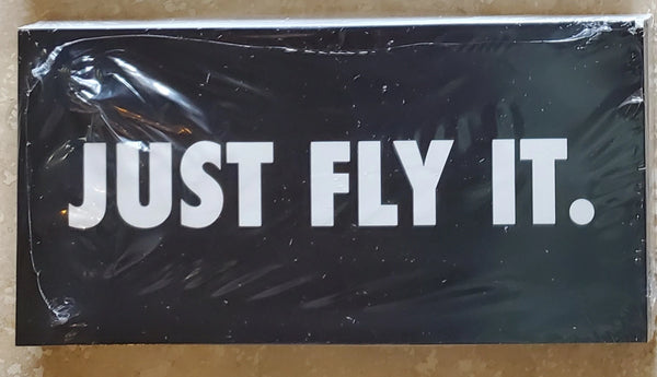 JUST FLY IT. black tactical Bumper Sticker