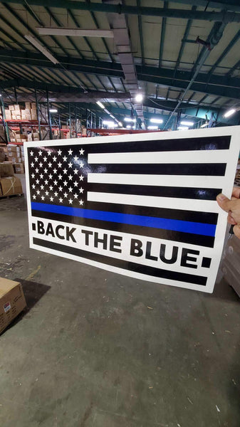 "Police Back The Blue Double Sided Yard Sign 14.5""X 23"" Inches"