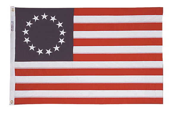 Betsy Ross 13 Star USA 3'x5' 68D American Revolution Flag Rough Tex ®
