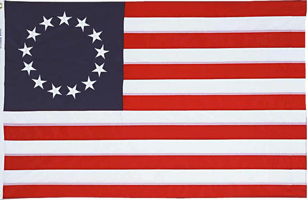 Betsy Ross 13 Star USA Flag 3'x5' Feet 100D American Revolution Flag Rough Tex ®