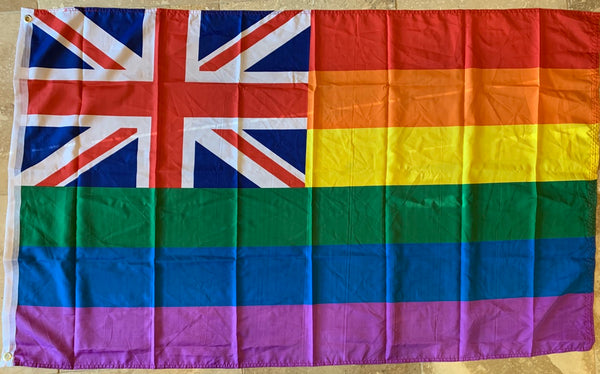 Union Rainbow Pride Flag- 3'X5' Rough Tex® 100D